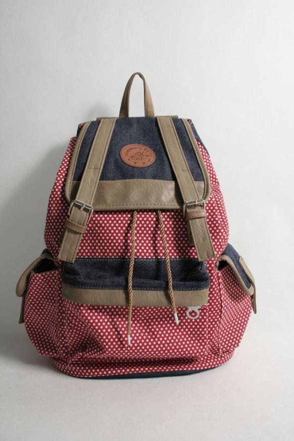 33922c4a674ac Piękny czerwony plecak Vinted w Plecaki - Szafa.pl