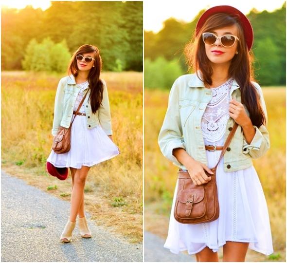Blogerek zwiewna sukienka
