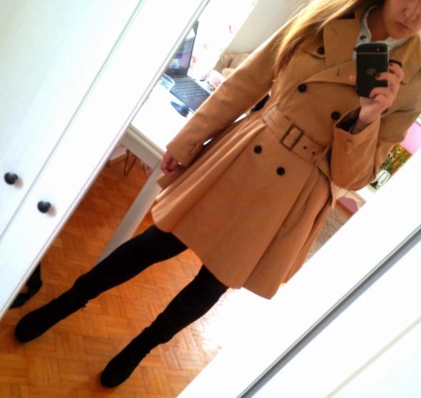 Mój styl Camel coat