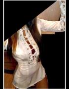Koszula wiązany sznurowany Dekolt Rękaw