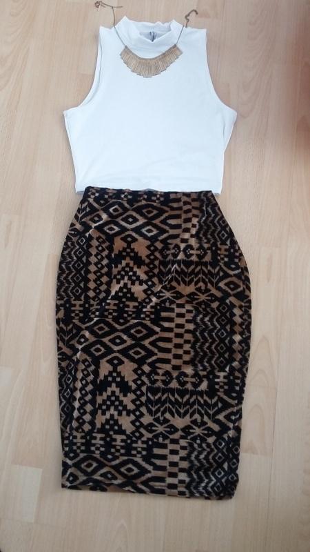 Spódnice olowkowa spodnica azteckie wzory