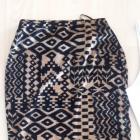 olowkowa spodnica azteckie wzory