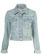 Katanka jasna jeansowa do bioder S tylko taliowana...