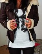 Kożuszek ramoneska z kożuszkiem kurtka na jesień...