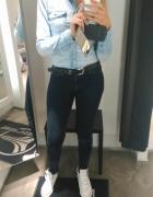 koszula jeans i conversy