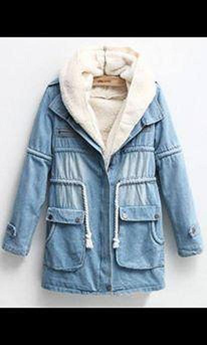 Ubrania Kurtka jeansowa z futerkiem
