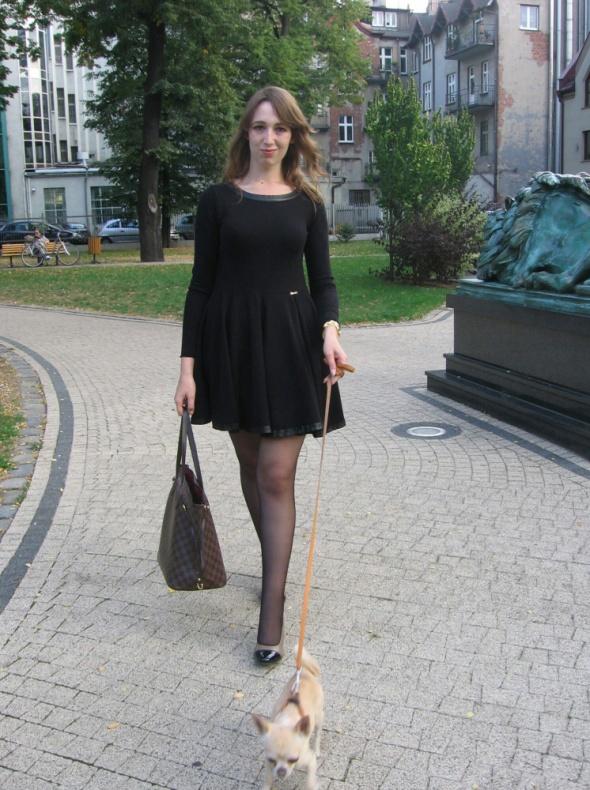Eleganckie Sukienka By o la la i torebka LV Neverfull
