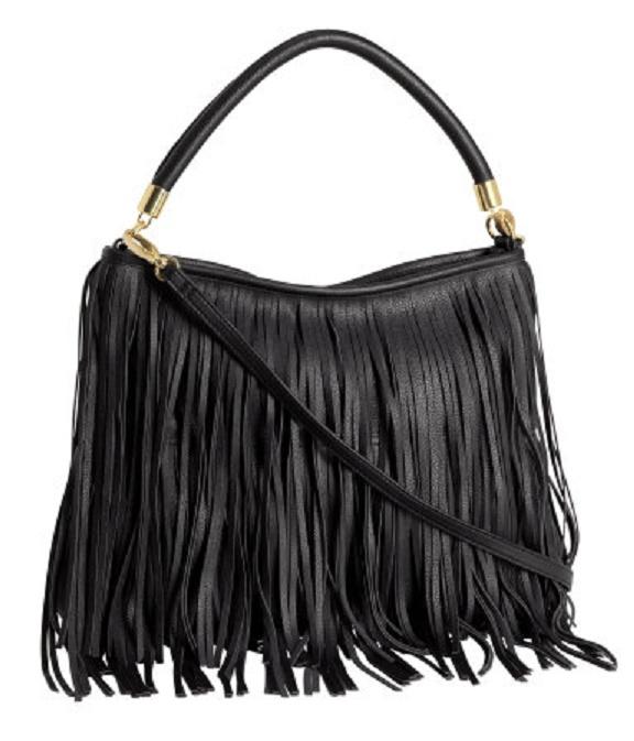 poszukiwana H&M czarna torebka fredzle