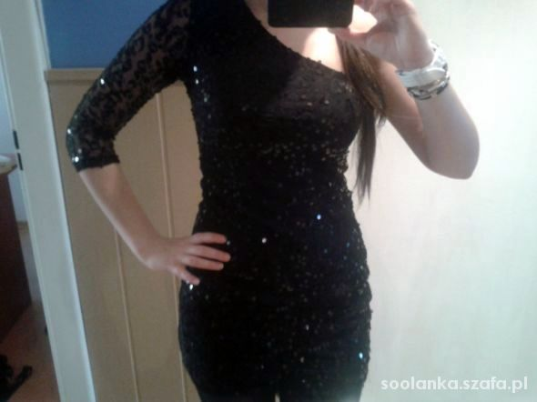 sukienka cekinowa xs s 34 36 ax paris cekiny czar