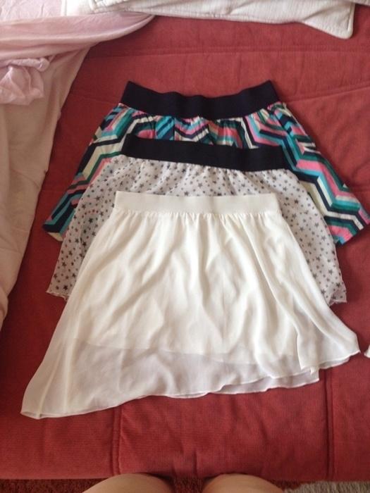 Spódnice trzy śliczne spódniczki na lato