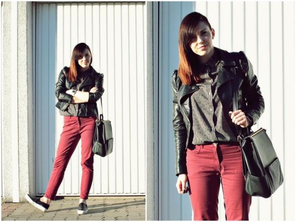 Blogerek Burgund jeans