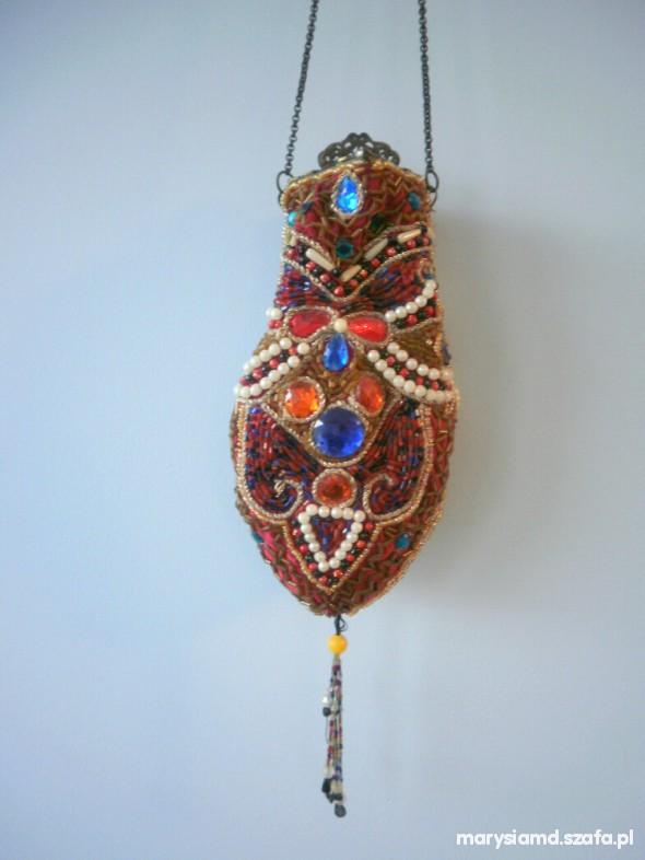 unikatowa torebka z Egiptu kryształki koraliki