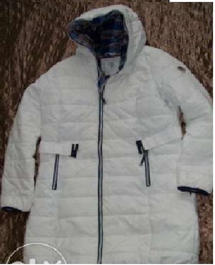 płaszcz kurtka biała pikowana Carry...