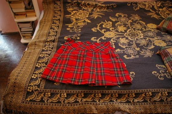 Spódnice Spódniczka czerwona w kratkę