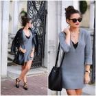 Szara sukienka sweter