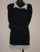 Sweterek z koszulą roz 50 śliczny