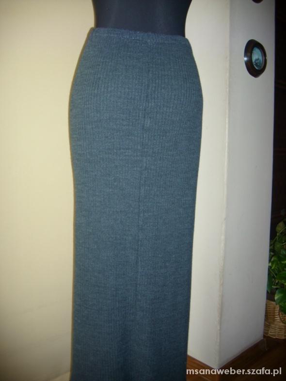 Spódnice szara spodnica maxi dzianina XS na L