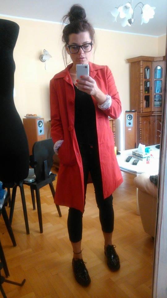 Codzienne Czerwony płaszczyk