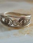 stary srebrny filigran pierścionek