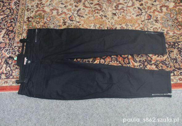 Spodnie czarne rurki z suwaczkami 44