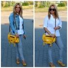 Yellow bag yellow shoes