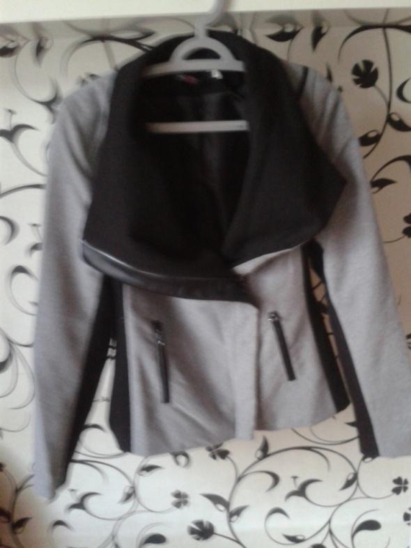 Elegancka kurtka czarno szara