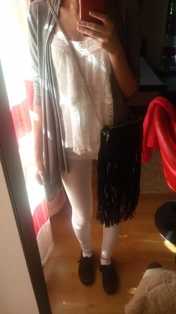 Codzienne Białe spodnie