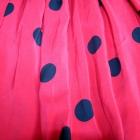 Czerwona spódnica w grochy na gumce
