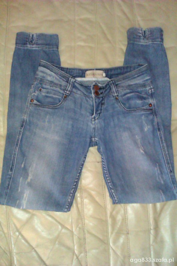 spodnie jeans dzinsowe rurki bershka