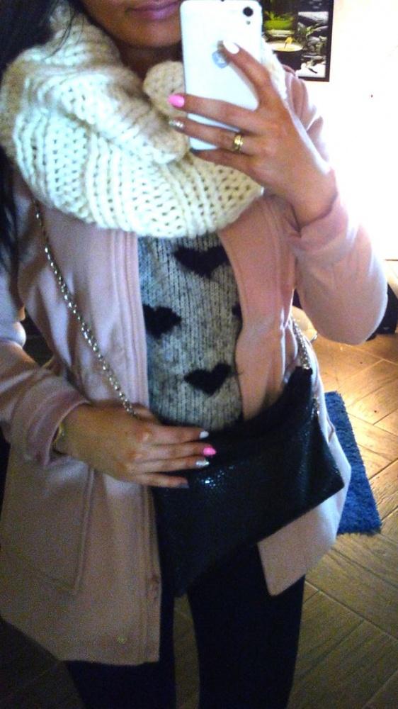 Mój styl Pudrowy płaszcz