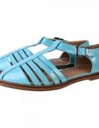 Sandały baby blue cut out flat sandals Bebo sh