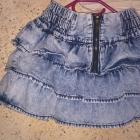 Marmurkowa spódniczka zip