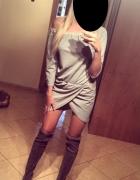 sukienka z rozcięciem...