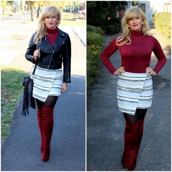 Blogerek asymetryczna spodnica