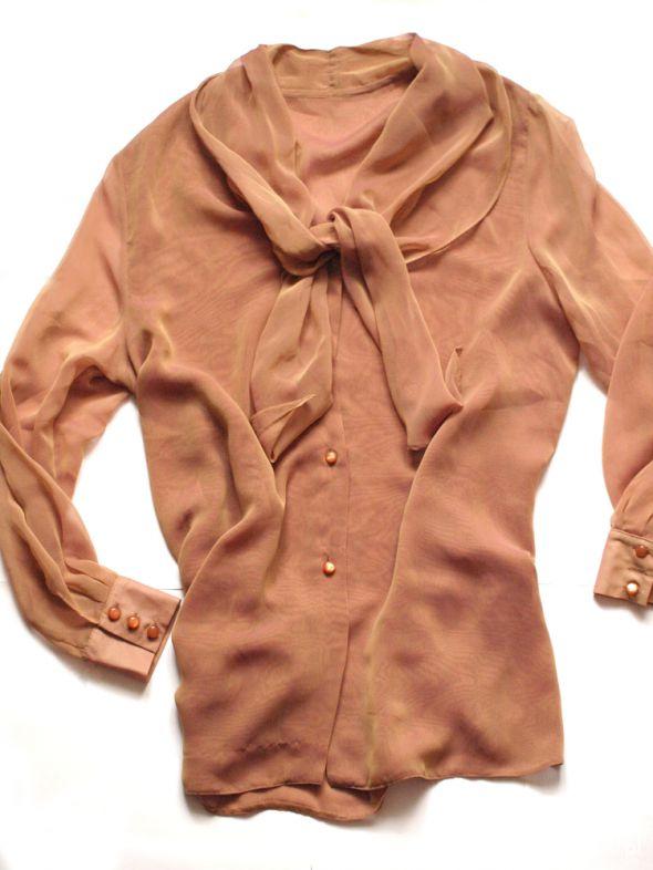 Koszule Mieniąca się koszula w kolorze karmelowym