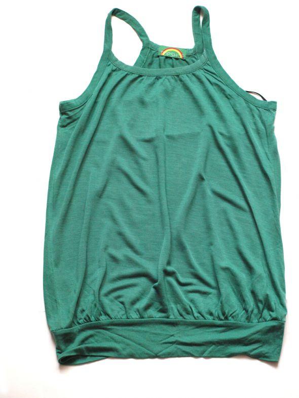 Bluzki Zielona lejąca się bluzka z Top Shop rozmiar S