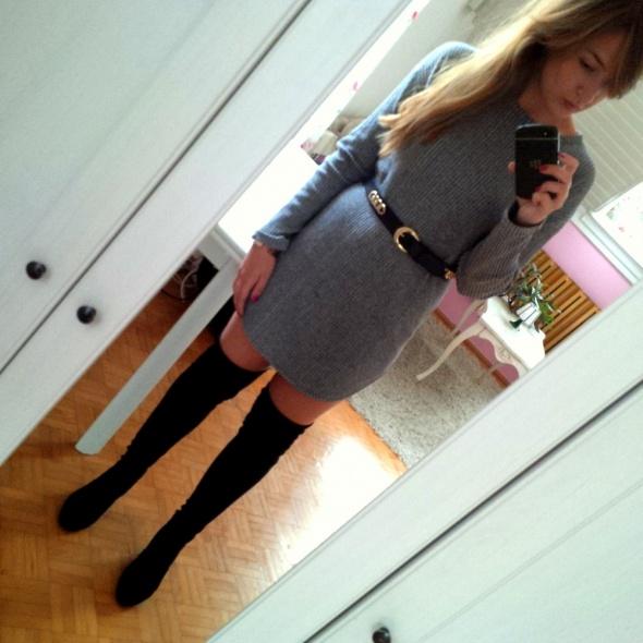 Mój styl Szara tunika