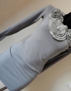 szara sweterkowa tuniko sukienka