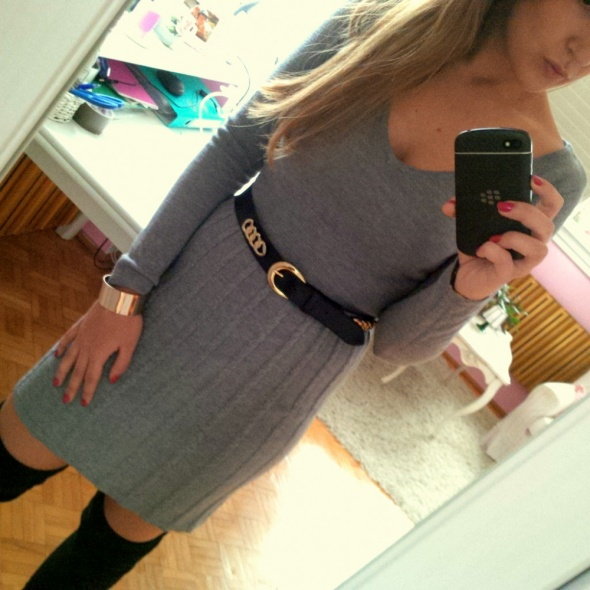 Mój styl dziainowa sukienka dekolt V