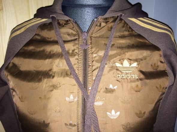 Bluza Adidas Originals z kapturem brązowa 40 w Bluzy Szafa.pl