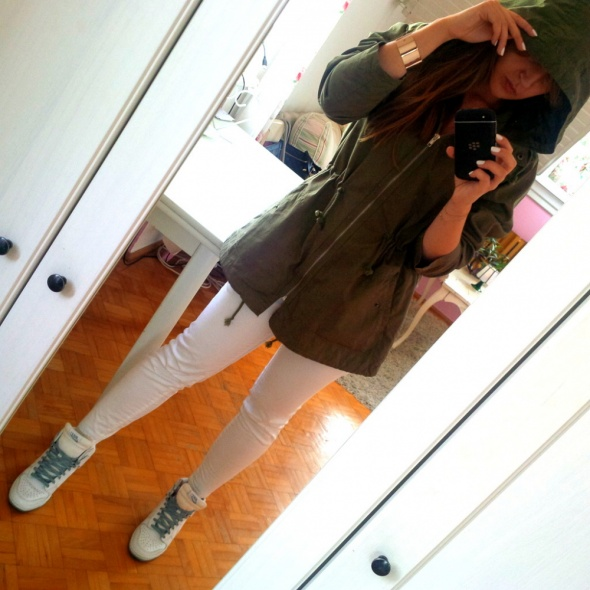 Mój styl Parka khaki