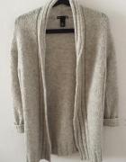 długi sweter h&m ciepły wełna
