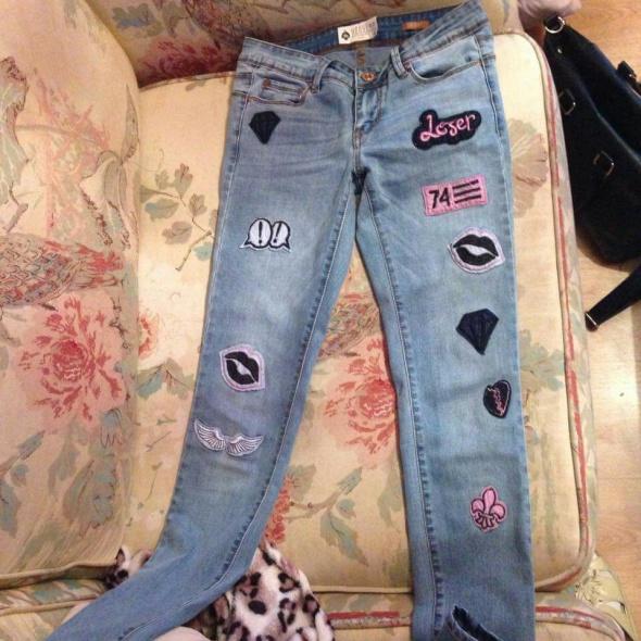 spodnie z naszywkami hit sezonu house