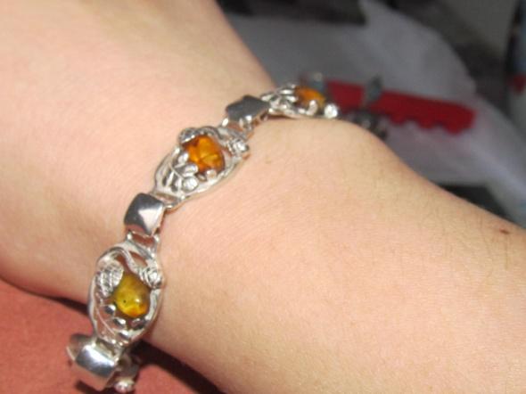 srebrna bransoletka Warmet żołędzie