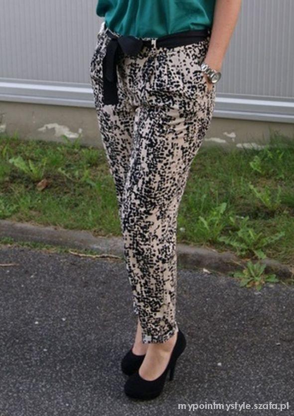 Spodnie białe czarne ecru H&M SZYBKA WYSYŁKA