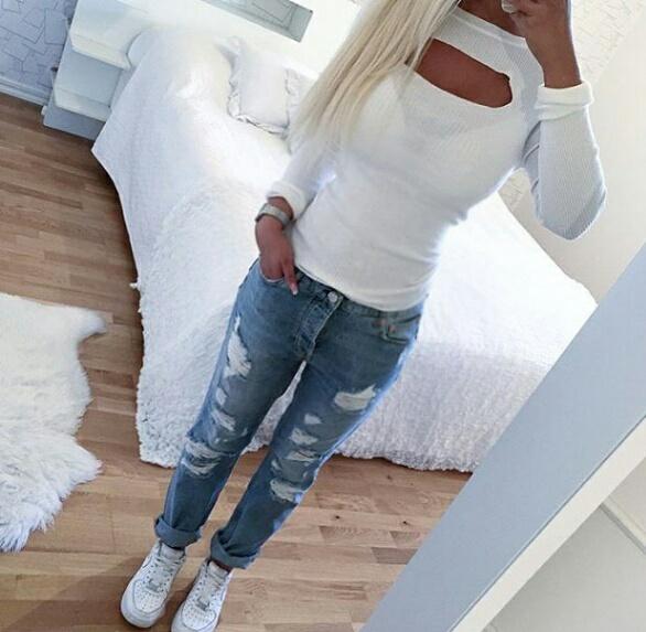 Codzienne biel i jeans klasyk