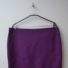 F&F fioletowa elegancka spódnica prosta 46