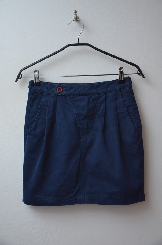 Spódnice ZARA granatowa spódnica z kieszeniami 34