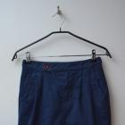 ZARA granatowa spódnica z kieszeniami 34