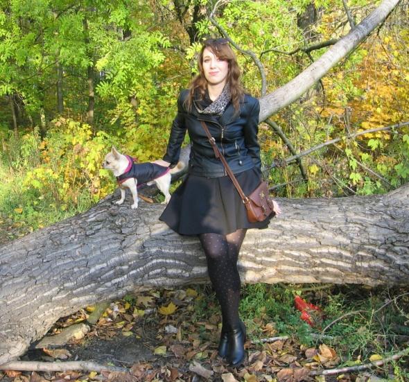 Eleganckie Ramoneska i rozkloszowana spódniczka